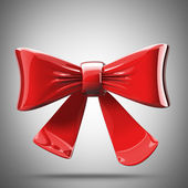 Red Bow. High resolution 3d render — Stock Photo