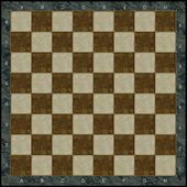Stone chess board with gold incrustation — Stock Photo