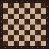 Wooden chess board background — Stock Photo