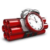 Bomba com temporizador de relógio — Foto Stock