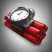 Bomb with clock timer. High resolution. 3D image — Stock Photo