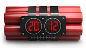 Explosives with alarm clock 2012 detonator — Stockfoto