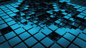 Abstract smooth blue cubes as background — Stock Photo