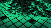 Abstract smooth green cubes as background — Stock Photo