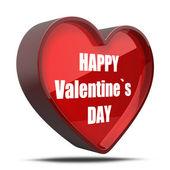 3d heart Happy Valentines day — Stock Photo