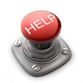 Red help button Isolated — Stock Photo