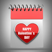 3d illustration. Valentine's calendar high resolution — 图库照片