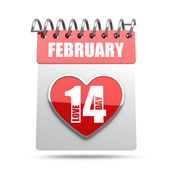 Valentine's calendar february 14 — Zdjęcie stockowe