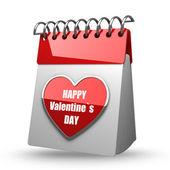 календарь на день валентина — Стоковое фото