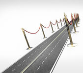 Carpet road concept background High resolution 3D — Stock Photo