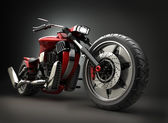 Concept motorcycle (No trademark issues as the car is my own design) — Стоковое фото