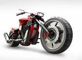在白色背景上孤立的概念摩托车 — 图库照片
