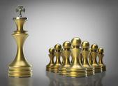 Chess Leadership concept — Stock Photo