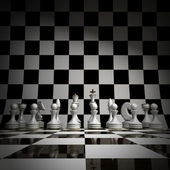 White chess background 3d illustration. high resolution — Stock Photo