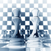 Xrey chess Queen background 3d illustration. high resolution — Stock Photo