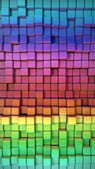 Rainbow of colorful boxes 3d illustration. high resolution — Stock Photo