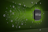 Circuit board.virus high resolution 3d digitally generated image — Stock Photo