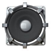 在白色背景高分辨率 3d 渲染上孤立的扬声器 — 图库照片