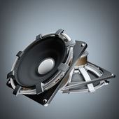Loudspeakers High resolution 3d render — Stock Photo