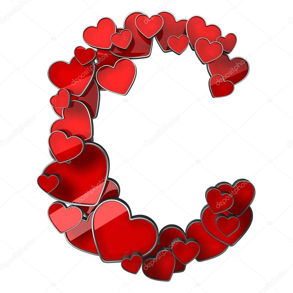 Hearts isolated on white background high resolution 3d illustration