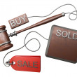 Auction gavel - Stock Photo