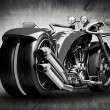 Concept motorcycle - Stock Photo