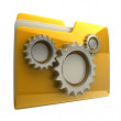 Folder icon with gear wheels — Stock Photo #20327683