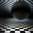 Checkered texture 3d background high resolution - Стоковая фотография
