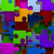 Colorful Puzzle abstract background 3d. Team concept - Стоковая фотография