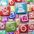 APPS icons abstract background High resolution 3d render - Стоковая фотография