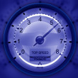 Tachometer blue — Stock Photo