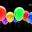 Multicolored party balloons — Stock Photo