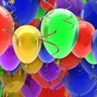 Multicolored party balloons background — Stock Photo