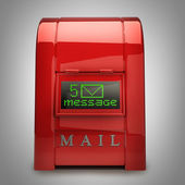 Red Postbox with Electronic screen 3d — 图库照片