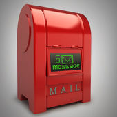 Red Postbox with Electronic screen — Stock Photo
