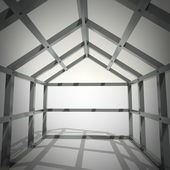 Concept image new home framework — Stock Photo