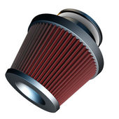 Air cone filter of zero resistance. Vehicle Modification Accessories. — Stock Photo
