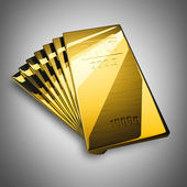 Gold bars. High resolution. 3D image — Photo
