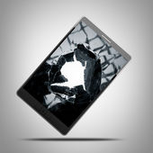 PAD with broken Touchscreen — Stock Photo