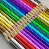 Color pencils High resolution 3D image — Stock Photo