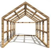 Concept image new home framework — Stock Photo