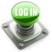 Green login button — Stock Photo