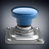 Blue button closeup — Stock Photo
