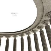 Vieilles colonnes est de style antique. — Photo