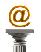 Column Pedestal with E-mail symbol — Stock Photo