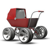 Baby super Carriage — Stock Photo