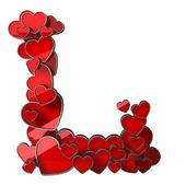 Alfabeto de corazones — Foto de Stock