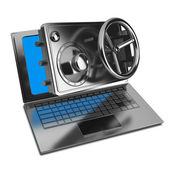 Abstract laptop safe (concept) — Stock Photo