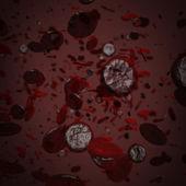 Many red erythrocytes — Stock Photo