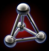 Simple steel molecular structure 3D — Foto de Stock